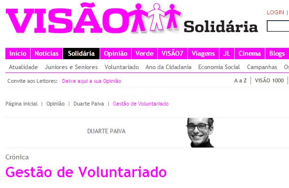 Artigo   Gestão de Voluntariado