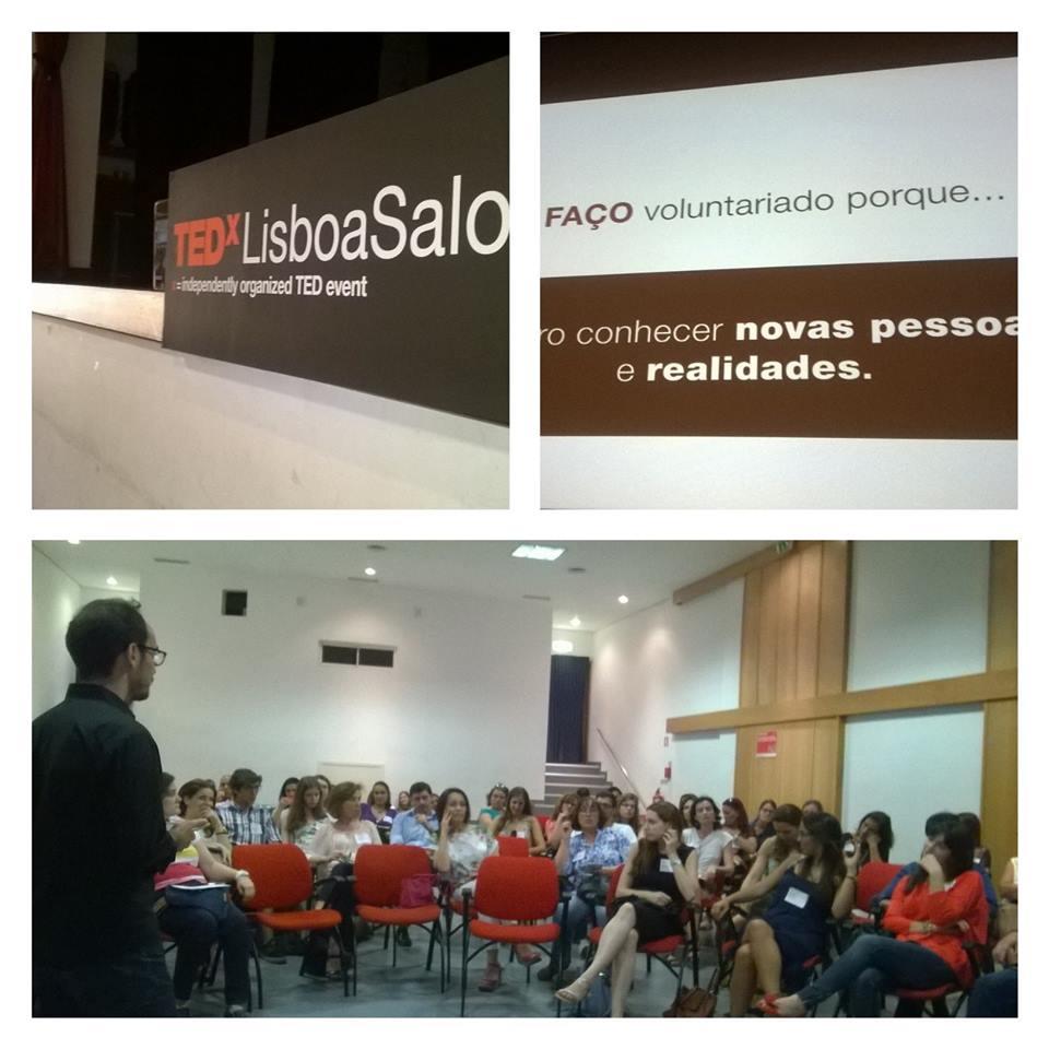 """TEDxSalon com o tema: """"Voluntariado – Sim ou Não?"""