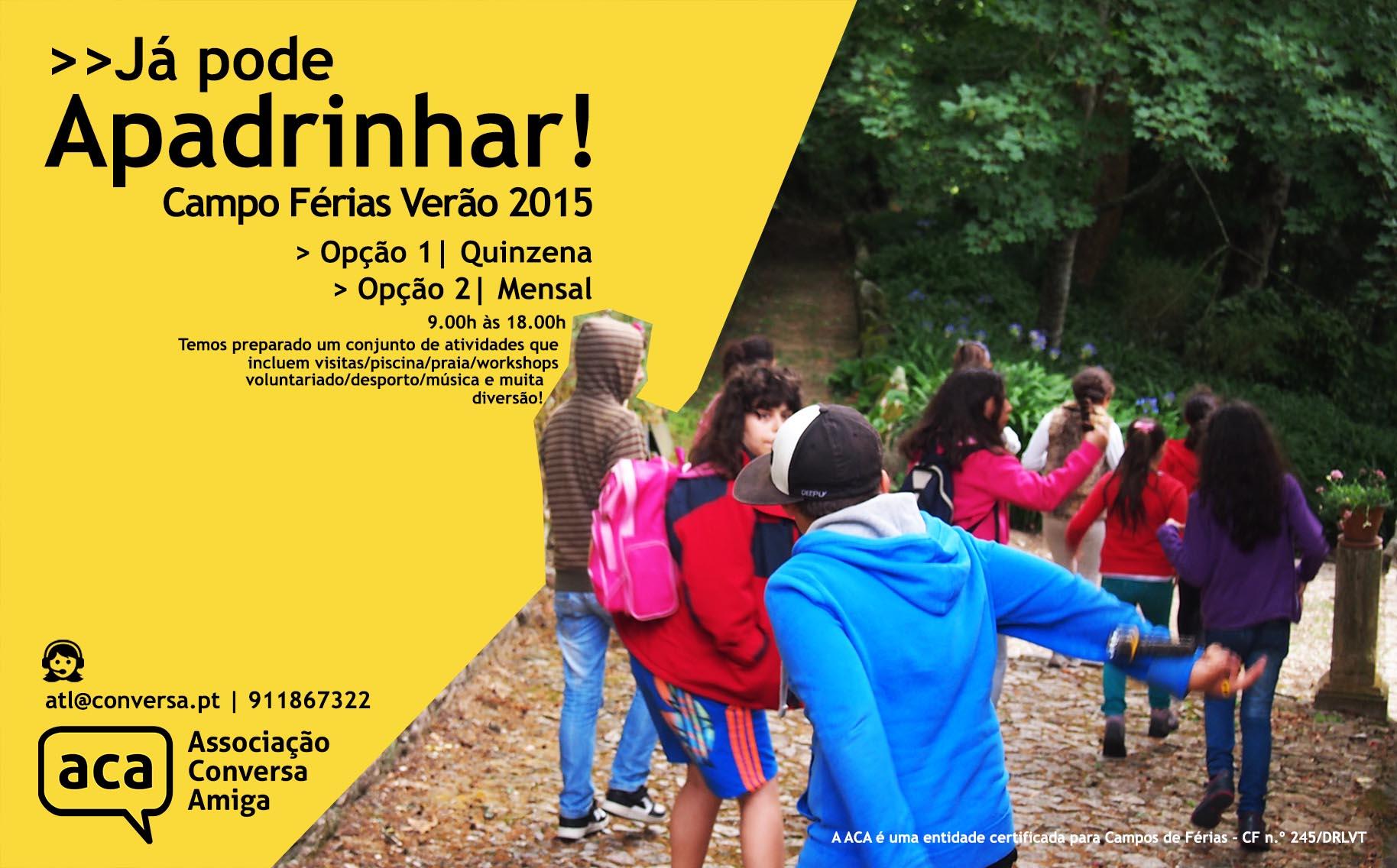 Apadrinhamento Crianças | Campo de Férias Verão 2015