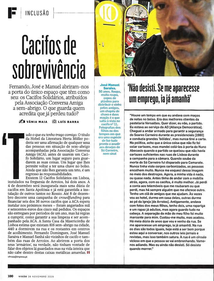 Cacifos Solidários na Visão Solidária | Artigo
