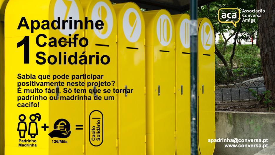 Apadrinhe 1 Cacifo Solidário!