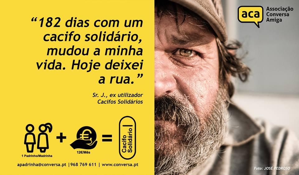 Sabia que pode Apadrinhar 1 Cacifo Solidário?