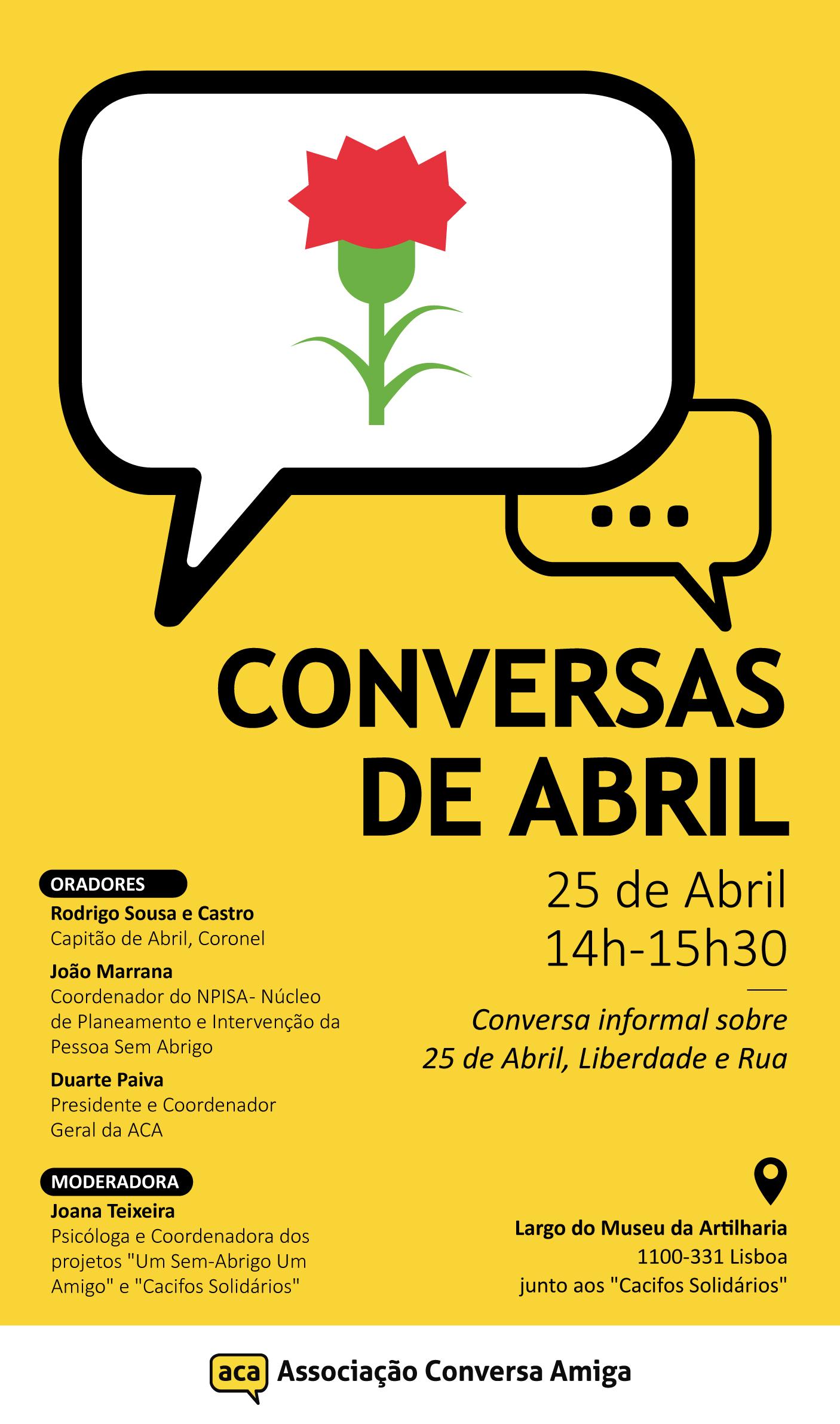 Conversas de Abril | 25 de Abril, Liberdade & Rua