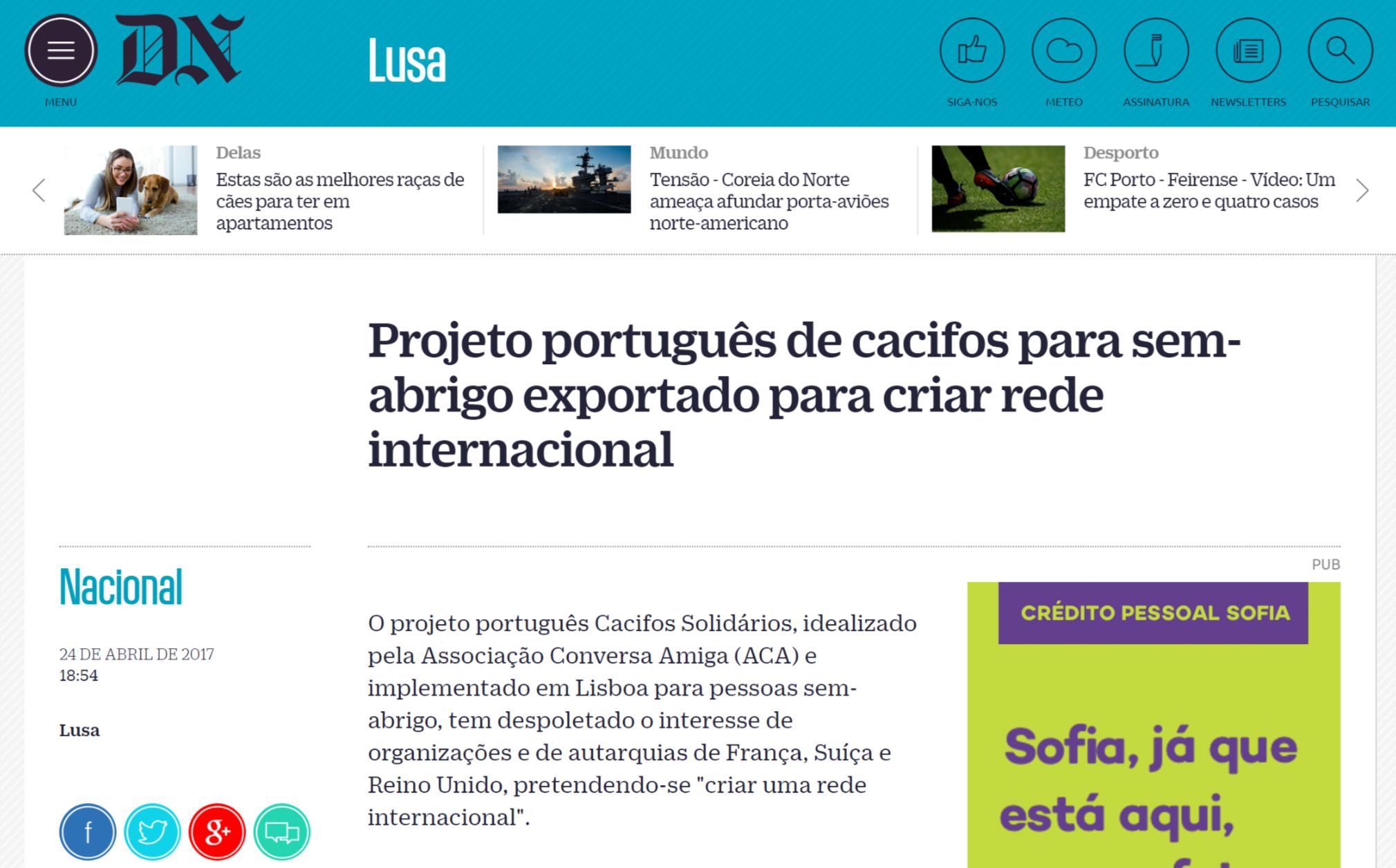 """""""Cacifos Solidários"""" em crescimento nacional e internacional"""
