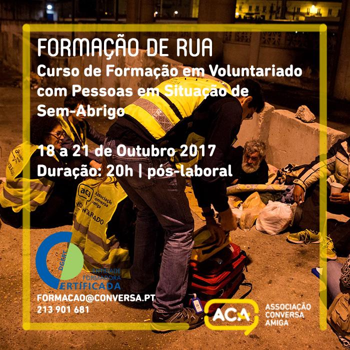 Formação de Rua – Curso de Formação em Voluntariado com Pessoas em Situação de Sem-Abrigo