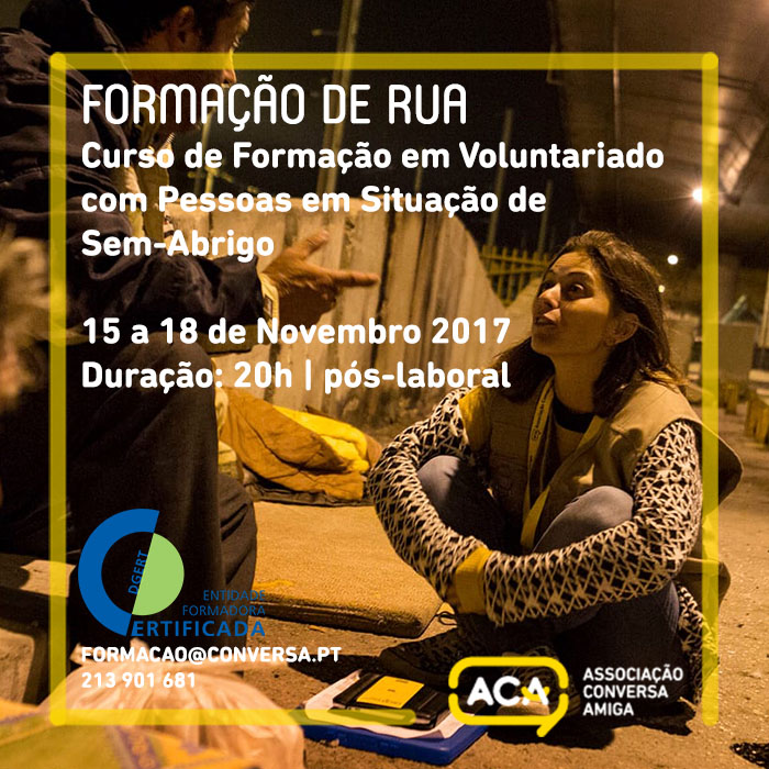 ACA | Formação de Rua – Curso de Formação em Voluntariado com Pessoas em Situação de Sem-Abrigo