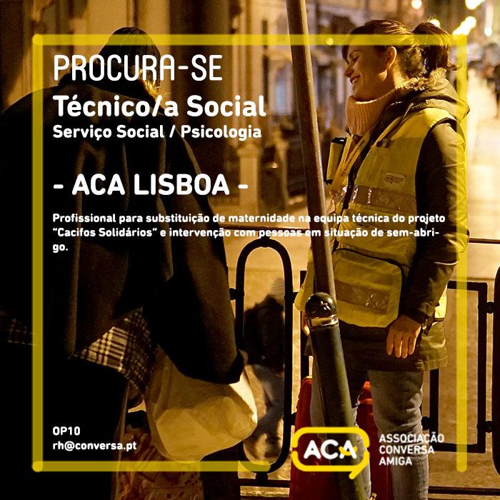 Oportunidade Trabalho Técnico/a Social