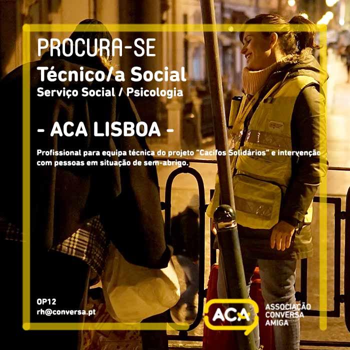 Técnico/a Social Projeto Cacifos Solidários – Lisboa (OP12)