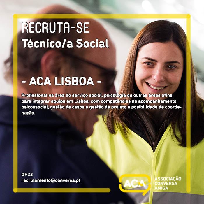 Recruta-se Técnico/a Social