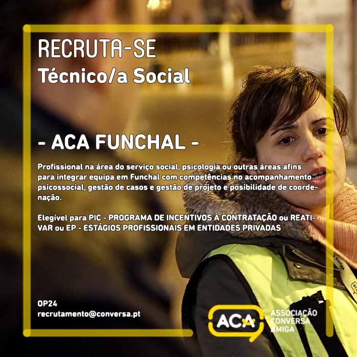 Técnico/a Social/Coordenação – FUNCHAL